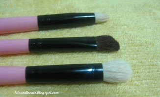 close up of eye shadow and contouring brushes, by bitsandtreats