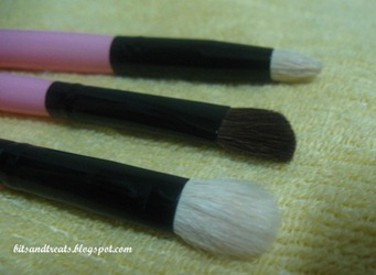 close up of eye shadow and contouring brushes 2, by bitsandtreats