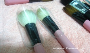 charm face brushes after washing with brush guard, by bitsandtreats