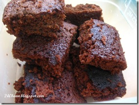 instant brownies in a bento, by 240baon