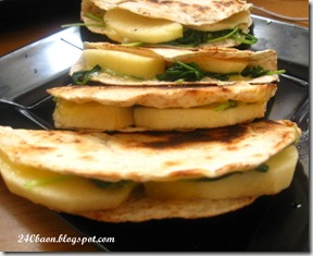 cheese and apple tortillas, by 240baon