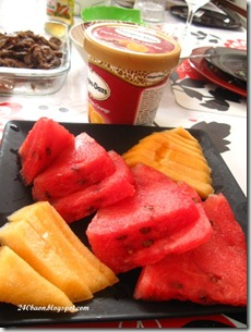 haagen dazs chocolate orange and watermelon and melon platter, by 240baon