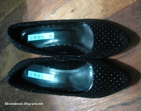 black chesca studded pumps, by bitsandtreats