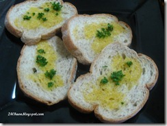 whole wheat farmer's bread with butter and parsley, by 240baon