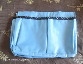 blue bag organizer, by bitsandtreats