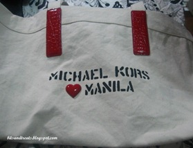 michael kors heart manila tote, by bitsandtreats