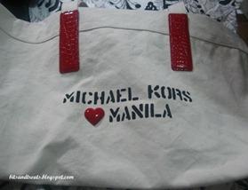 michael kors heart manila tote, by bitsandtreats