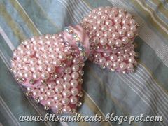 pink bow, by bitsandtreats