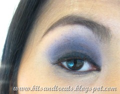 purple smokey party eye, by bitsandtreats