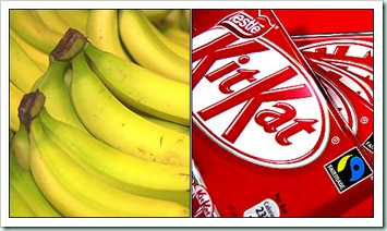banana and kitkat
