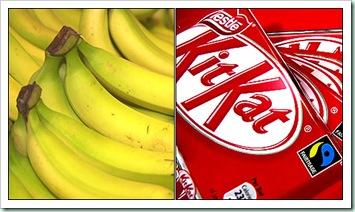 banana and kitkat