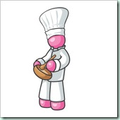 Clip Art Graphic of a Pink Guy Character