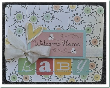 welcome home baby card
