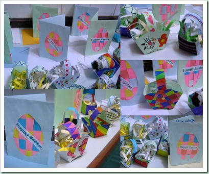 easter cards, baskets 2011