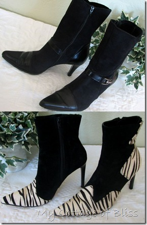Black boot collage