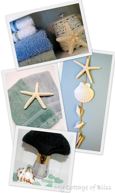 shell-towel collage