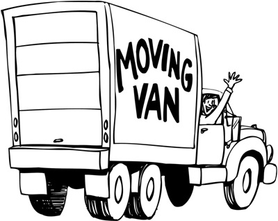 moving van-waving