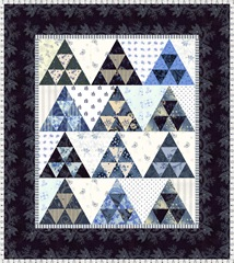 pyramid mini quilt blues