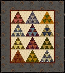 pyramid mini quilt reproduction