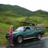 auto met bamboematten
