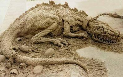 dragon-sand-sculpture