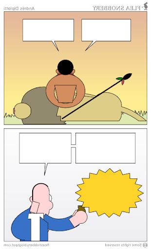 What's behind a Flea Snobbery cartoon?
