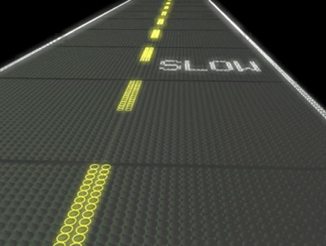 estrada de paineis solares