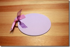 Tiny Album Oval Lilac
