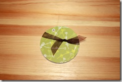 Tiny Album Circle Olive Green