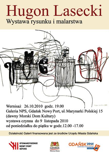 Hugon Lasecki - wystawa grafiki i malarstwa - zaproszenie