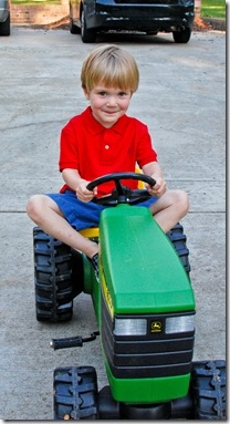 skylar and tractor