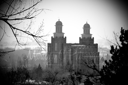 Logan Utah Temple Sepia-1MCP