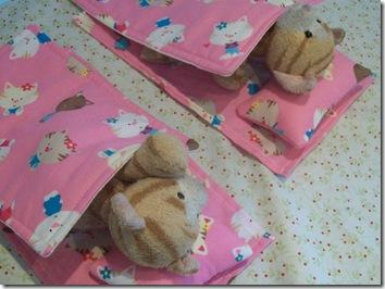 Kitties in beds
