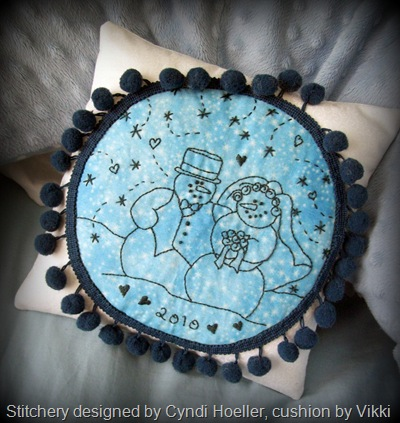 Married snow couple by Cyndi