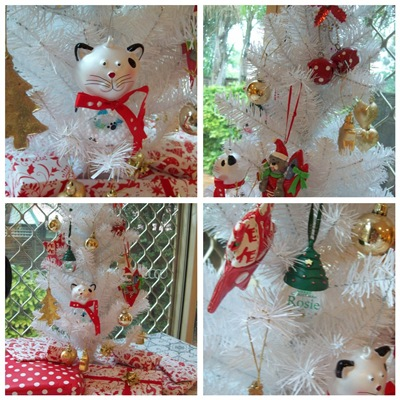 Xmas Rosie tree collage