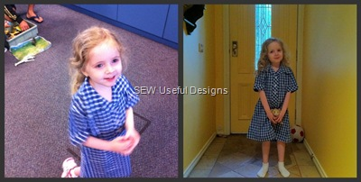 First school day collage