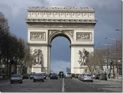 Paris arc de triumph