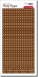 Adesivo - Tiny Type Brown