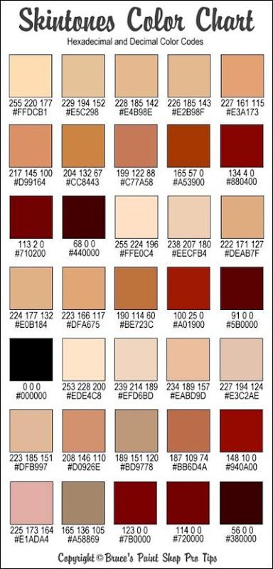 human skin tone color