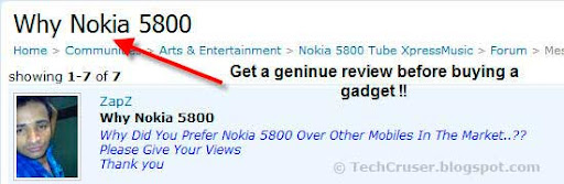 get a genuine product review in orkut
