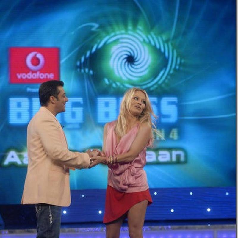 Pamela with Salman Bigg Boss show