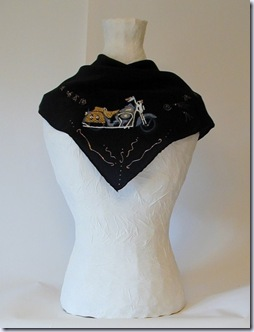 altheap black silk scarf