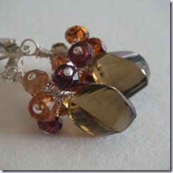 nightskyjewery shades of autumn earrings