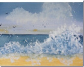 YankeeGirl beach watercolor