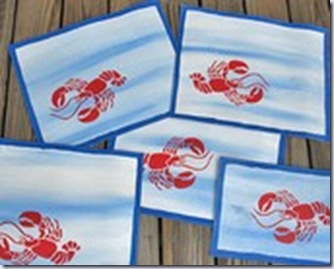 herons treasures lobster and fish place cards
