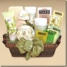 Vanilla Orchid Spa Basket