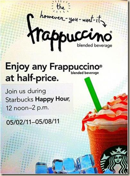 Starbucks Happy Hour 2011