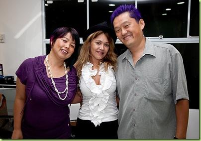 Clara Takii, Adriane Maciel e Fernando Takii
