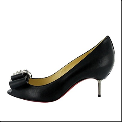 COUCHE NODO 70 CALF BLACK AND SILVER HEEL_R$3.350