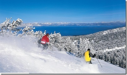 Skiing Heavenly Powder